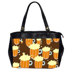 A Fun Cartoon Frothy Beer Tiling Pattern Office Handbags (2 Sides)