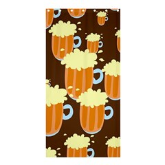 A Fun Cartoon Frothy Beer Tiling Pattern Shower Curtain 36  x 72  (Stall)