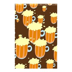 A Fun Cartoon Frothy Beer Tiling Pattern Shower Curtain 48  X 72  (small)