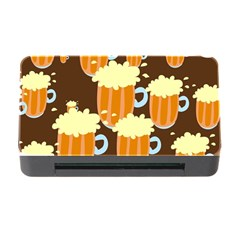 A Fun Cartoon Frothy Beer Tiling Pattern Memory Card Reader with CF