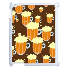 A Fun Cartoon Frothy Beer Tiling Pattern Apple iPad 2 Case (White)