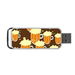 A Fun Cartoon Frothy Beer Tiling Pattern Portable USB Flash (One Side)
