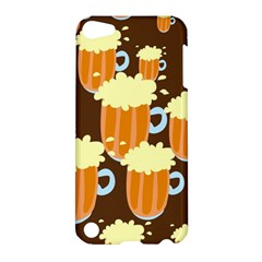 A Fun Cartoon Frothy Beer Tiling Pattern Apple iPod Touch 5 Hardshell Case