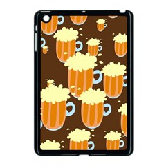 A Fun Cartoon Frothy Beer Tiling Pattern Apple iPad Mini Case (Black)
