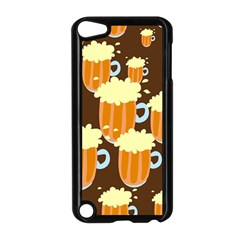 A Fun Cartoon Frothy Beer Tiling Pattern Apple iPod Touch 5 Case (Black)