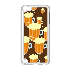 A Fun Cartoon Frothy Beer Tiling Pattern Apple Ipod Touch 5 Case (white)