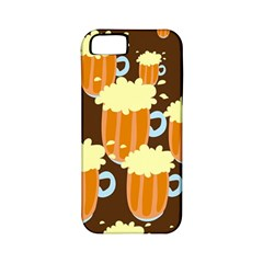 A Fun Cartoon Frothy Beer Tiling Pattern Apple iPhone 5 Classic Hardshell Case (PC+Silicone)