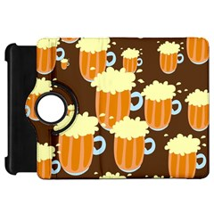 A Fun Cartoon Frothy Beer Tiling Pattern Kindle Fire HD 7
