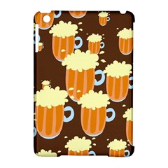 A Fun Cartoon Frothy Beer Tiling Pattern Apple Ipad Mini Hardshell Case (compatible With Smart Cover)