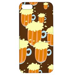 A Fun Cartoon Frothy Beer Tiling Pattern Apple iPhone 5 Hardshell Case with Stand
