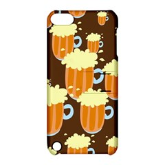A Fun Cartoon Frothy Beer Tiling Pattern Apple iPod Touch 5 Hardshell Case with Stand