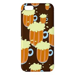A Fun Cartoon Frothy Beer Tiling Pattern Apple iPhone 5 Premium Hardshell Case