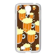 A Fun Cartoon Frothy Beer Tiling Pattern Samsung Galaxy S4 I9500/ I9505 Case (white)