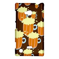A Fun Cartoon Frothy Beer Tiling Pattern Nokia Lumia 720
