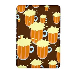 A Fun Cartoon Frothy Beer Tiling Pattern Samsung Galaxy Tab 2 (10 1 ) P5100 Hardshell Case