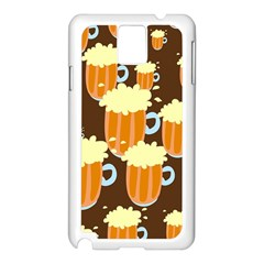 A Fun Cartoon Frothy Beer Tiling Pattern Samsung Galaxy Note 3 N9005 Case (white)