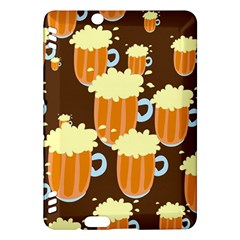 A Fun Cartoon Frothy Beer Tiling Pattern Kindle Fire Hdx Hardshell Case