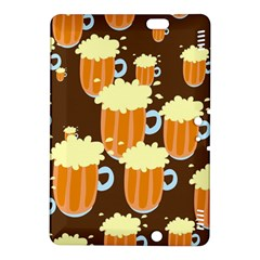 A Fun Cartoon Frothy Beer Tiling Pattern Kindle Fire Hdx 8 9  Hardshell Case