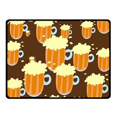 A Fun Cartoon Frothy Beer Tiling Pattern Double Sided Fleece Blanket (small)