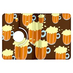 A Fun Cartoon Frothy Beer Tiling Pattern Kindle Fire Hdx Flip 360 Case