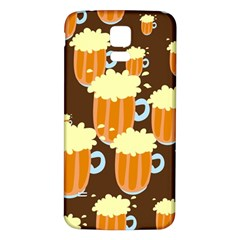 A Fun Cartoon Frothy Beer Tiling Pattern Samsung Galaxy S5 Back Case (white)