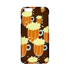 A Fun Cartoon Frothy Beer Tiling Pattern Apple Iphone 6/6s Hardshell Case