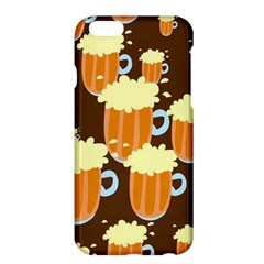 A Fun Cartoon Frothy Beer Tiling Pattern Apple iPhone 6 Plus/6S Plus Hardshell Case