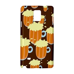 A Fun Cartoon Frothy Beer Tiling Pattern Samsung Galaxy Note 4 Hardshell Case