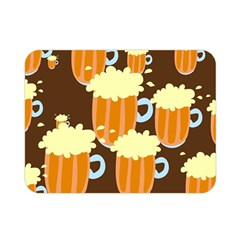 A Fun Cartoon Frothy Beer Tiling Pattern Double Sided Flano Blanket (mini)