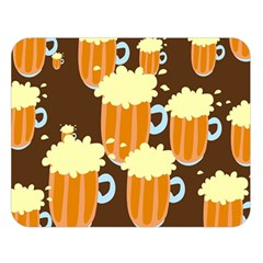 A Fun Cartoon Frothy Beer Tiling Pattern Double Sided Flano Blanket (Large)