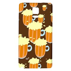 A Fun Cartoon Frothy Beer Tiling Pattern Galaxy Note 4 Back Case