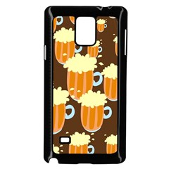 A Fun Cartoon Frothy Beer Tiling Pattern Samsung Galaxy Note 4 Case (Black)