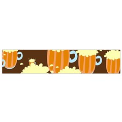 A Fun Cartoon Frothy Beer Tiling Pattern Flano Scarf (small)