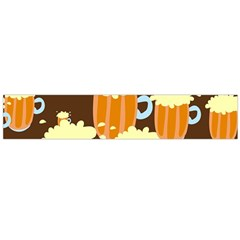 A Fun Cartoon Frothy Beer Tiling Pattern Flano Scarf (large)