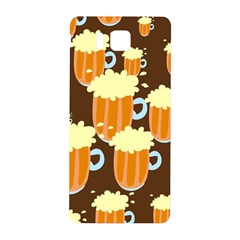 A Fun Cartoon Frothy Beer Tiling Pattern Samsung Galaxy Alpha Hardshell Back Case