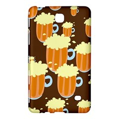 A Fun Cartoon Frothy Beer Tiling Pattern Samsung Galaxy Tab 4 (8 ) Hardshell Case