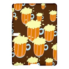 A Fun Cartoon Frothy Beer Tiling Pattern Samsung Galaxy Tab S (10 5 ) Hardshell Case