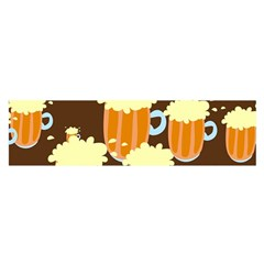 A Fun Cartoon Frothy Beer Tiling Pattern Satin Scarf (Oblong)