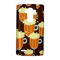 A Fun Cartoon Frothy Beer Tiling Pattern LG G4 Hardshell Case