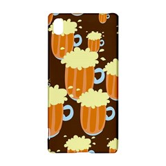 A Fun Cartoon Frothy Beer Tiling Pattern Sony Xperia Z3+