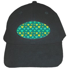 Hearts Seamless Pattern Background Black Cap