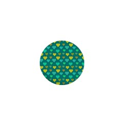Hearts Seamless Pattern Background 1  Mini Buttons
