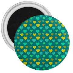 Hearts Seamless Pattern Background 3  Magnets