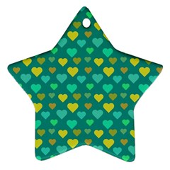 Hearts Seamless Pattern Background Ornament (Star)