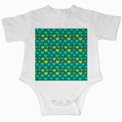 Hearts Seamless Pattern Background Infant Creepers