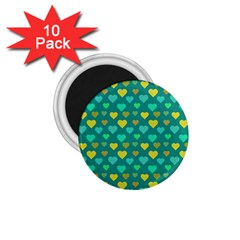 Hearts Seamless Pattern Background 1.75  Magnets (10 pack)