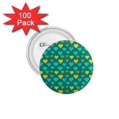 Hearts Seamless Pattern Background 1 75  Buttons (100 Pack)