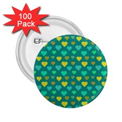 Hearts Seamless Pattern Background 2.25  Buttons (100 pack)