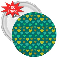 Hearts Seamless Pattern Background 3  Buttons (100 pack)