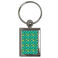 Hearts Seamless Pattern Background Key Chains (rectangle)